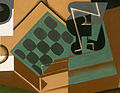 Juan Gris, 1917, Chessboard, Glass, and Dish, Philadelphia Museum of Art (detail).jpg