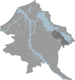 Location of Jugla in Riga.