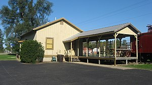 Morristown, Indiana - The Junction Railroad Depot in Morristown is listed on the National Register of Historic Places