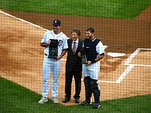 Justin Verlander, Mike Ilitch and Alex Avila.jpg