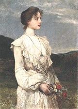 Károly Lotz (1833-1904) Soring, Portrait of Ilona Lippich 1894.jpg