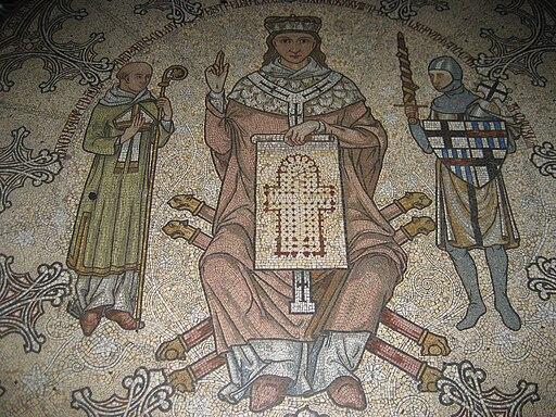 Kölner Dom, Mosaik, Konrad von Hochstaden, Detail, 2008