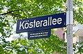 Köster-Stiftung Straßenschild Kösterallee.jpg
