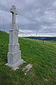 Kříž ve svahu severně od kostela, Drnovice, okres Blansko.jpg