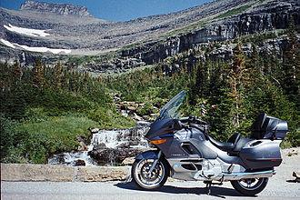 Touring motorcycle - BMW K 1200 LT at Glacier National Park