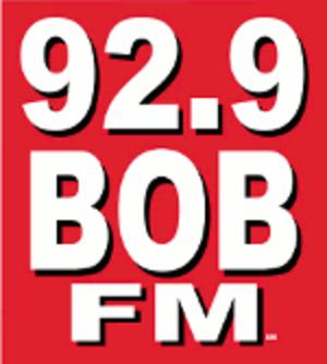KBEZ - 92.9 BOB FM logo used from 2010 to 2013.
