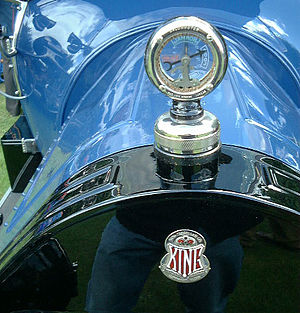 King (automobile) - King blue automobile with temperature gauge for the radiator