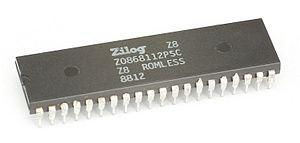 English: CPU Zilog Z8