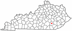 Location of London, Kentucky