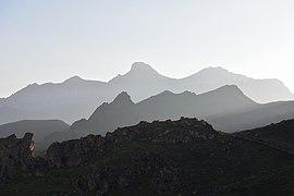 Kabardino-Balkarian state high-mountainous reserve. The effect of waves on sunrise over the mountain ranges.jpg