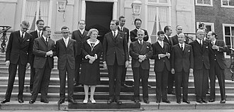 Barend Biesheuvel - Barend Biesheuvel at the inauguration of his First cabinet in 1971.