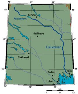 Lage des Kalixälv