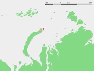 Cape Zhelaniya - Location of Cape Zhelaniya