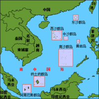 Location of 中沙群島