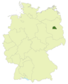 Map of Germany with the location of Berlin highlighted