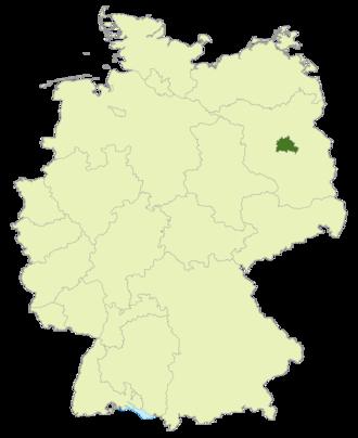 Berlin-Liga - Image: Karte DFB Regionalverbände BE