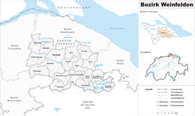 Localisation de District de Weinfelden