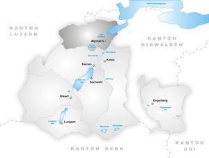 Alpnach - Image: Karte Gemeinde Alpnach