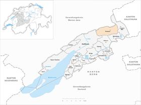 Karte von Pieterlen