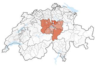 Central Switzerland map