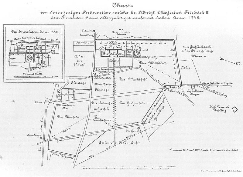 File:Karte von Invalidenhaus und Umgebung 1748 und 1882.jpg