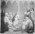 Kath. Illustratie 1894 Opdracht van Maria in de tempel, naar Frans Loots.jpg