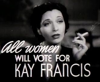 In First Lady trailer Kay Francis in First Lady trailer.jpg
