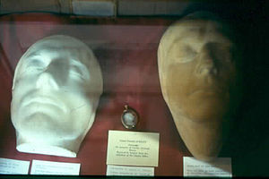 1821 in poetry - Life and Death masks of John Keats, Rome