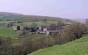 Keld, North Yorkshire - Image: Keld from Pennine Way