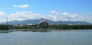 Chonburi (city) - The Khao Khiao Massif rising behind Chonburi town