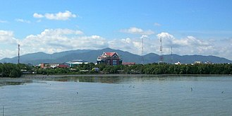 Chonburi (city) - The Khao Khiao Massif rising behind Chonburi town