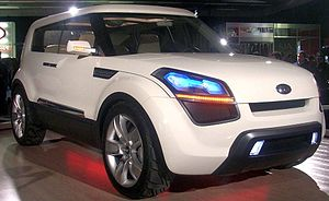Kia Soul Concept photographed at the Montreal ...