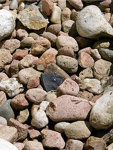 Typisches sediment hier kies