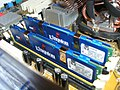 Kingston DDR2 RAM 2pcs on motherboard 20071123.jpg