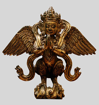 Sino-Tibetan relations during the Ming dynasty - A Chinese gilded brass figure of a kinnara from the reign of the Xuande Emperor (r. 1425–1435)