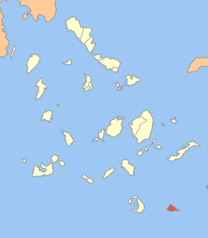 Locator map of Anafi communitiy (Κοινότητα Ανά...