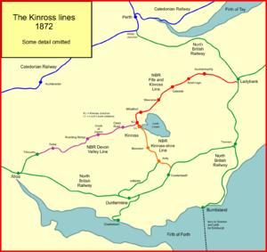 Railways of Kinross - The Kinross lines in 1872