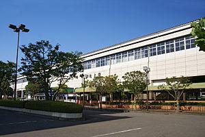 Kitakami Station - East side of Kitakami Station in August 2007