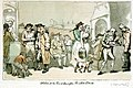 Kitchen at the Inn at Lymington, and road to Pilewell (caricature) RMG PW4943.jpg