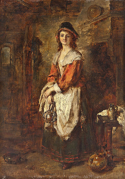 File:Kitchen maid English 19th c.jpg - Wikimedia Commons