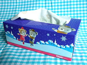 English: Kleenex facial tissues in 2010 Christ...