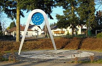 Kleinmaischeid - Memorial Zirkelschlag, representing the geographical center of the European Union.