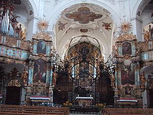 Muri Abbey - Interior church of Muri Abbey