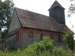 Leszcz, Warmian-Masurian Voivodeship - Image: Kościół Gotycki w Leszczu