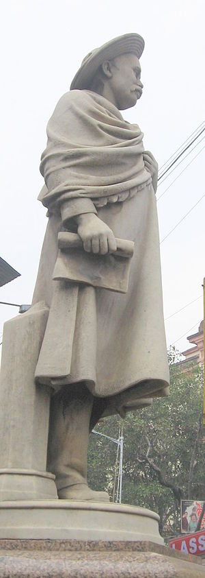 Kristo Das Pal - Statue of Kristo Das Pal at the crossing of College Street and Mahatma Gandhi Road