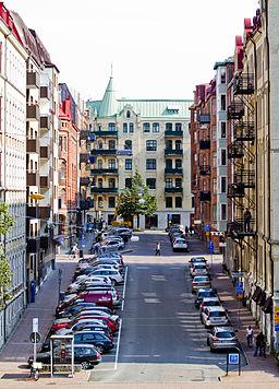 Majorsgatan har set fra Övre Majorsgatan.