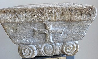 Byzantine Ionic column from National Museum of Medieval Art (Korçë, Albania)