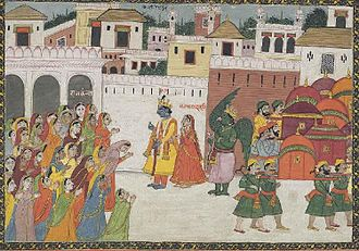 Pragjyotishpura - Krishna enters Pragjyotishpura