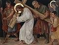 Kruisweg Sint-Pancratiuskerk, Heerlen, statie 05 Simon helpt Jezus het kruis dragen.jpg