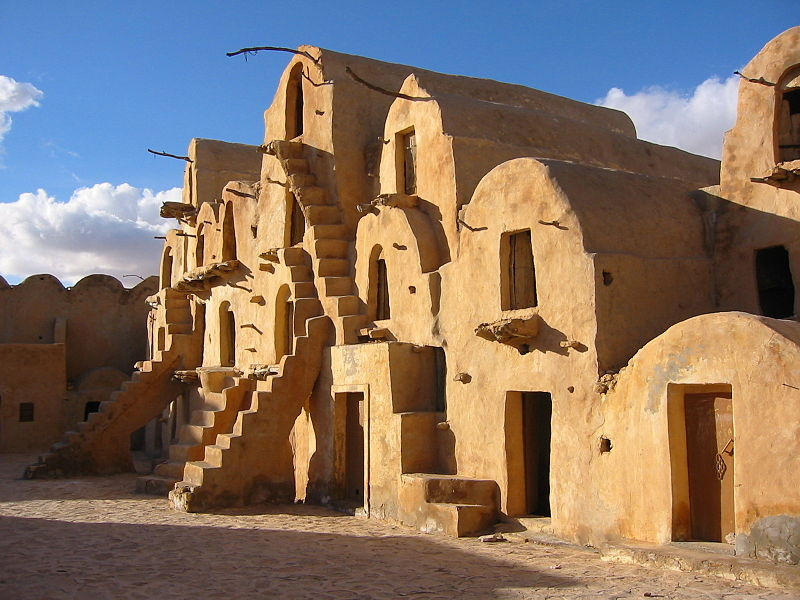 Ksar Ouled Soltane. Star Wars Scenes of the slave quarters were filmed here. Tunisia